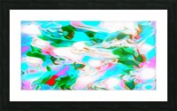 Angelic High - white blue red pink multicolor swirl abstract wall art Picture Frame print