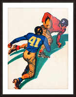 vintage football poster Picture Frame print