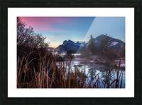 Vermilion Lakes Mist Picture Frame print