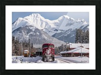 Banff Train Station Picture Frame print