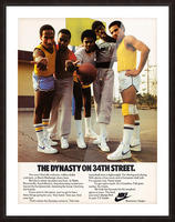 1981 vintage nike shoe ads dynasty on 34th street retro basketball poster Picture Frame print