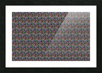 seamlessprismaticgeometricpatternwithbackground Picture Frame print