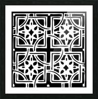 Blackandwhitegeometricgeometrypattern Picture Frame print