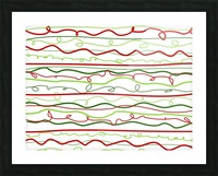 scribble pattern Picture Frame print