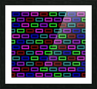 colourfulbrickspatterncolour Picture Frame print