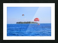Parasailing Picture Frame print