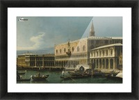 Venice, a view of the Molo, looking West, with the Palazzo Ducale and south side of the Piazzeta Picture Frame print