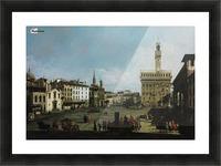 The Piazza della Signoria in Florence Picture Frame print