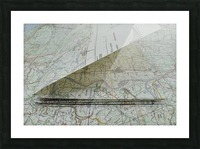 map navigation orientation drawing geography Picture Frame print