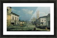 The Piazza San Martino and the Cathedral Picture Frame print