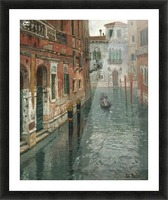 Along the canal in Venice Picture Frame print