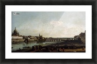 Dresden from the Right Bank of the Elbe, above the Augustusbrucke Picture Frame print