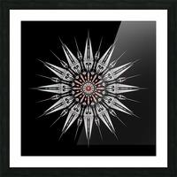 Garnet Reactor Mandala Picture Frame print