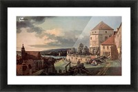 Landscape with castle and river Picture Frame print