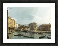 Venice. View of the Grand Canal with the Rialto Bridge, Seen from the North Picture Frame print