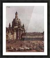 Der Neumarkt in Dresden Picture Frame print