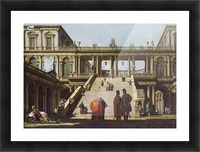 Street scene outside palace Picture Frame print
