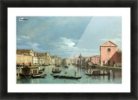 The Grand Canal facing Santa Croce Picture Frame print