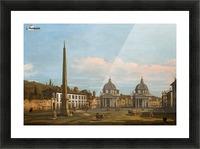 The Piazza del Popolo, Rome Picture Frame print