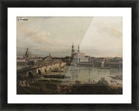Dresden, die Altstadt Dresdens vom Neustadter Bruckenkopf Picture Frame print
