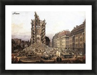 City ruins Picture Frame print