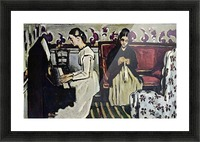 Girl at Piano by Cezanne Picture Frame print