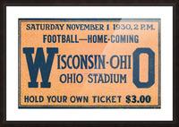 ticket stub metal sign osu buckeyes football vintage tickets wood prints Picture Frame print