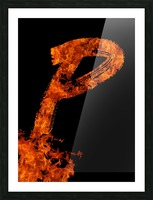 Burning on Fire Letter P Picture Frame print