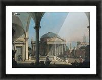 Caprice avec des ruines classiques Picture Frame print