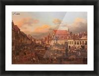 Die Altstadt wurde nach dem Krieg nach alten Picture Frame print