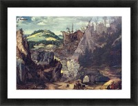 The path to a hill Picture Frame print