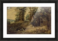 Landscape with Homestead Picture Frame print