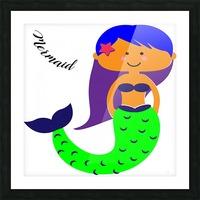 Mermaid Picture Frame print