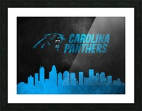 Carolina Panthers Skyline Picture Frame print