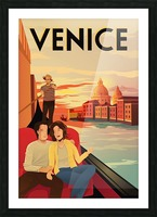 venice travel poster Picture Frame print