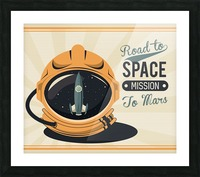 Life space vintage poster with set scenes Picture Frame print