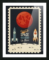 Life space poster with mars rocket rockets Picture Frame print