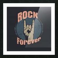 rock forever_ Picture Frame print