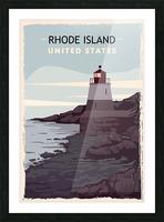 Rhode island retro poster usa rhode island travel illustration united states america Picture Frame print