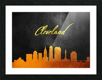 Cleveland Ohio Skyline Wall Art Picture Frame print