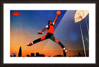 1985 Nike Promo Jordan Rookie Card Wall Art Picture Frame print