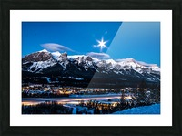 Canmore Morning Moon Over Rundle Mountain Picture Frame print
