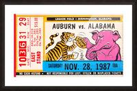 1987 Alabama vs. Auburn  Picture Frame print