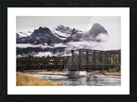 The Engine Bridge Canmore in Fall Picture Frame print