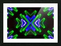 Neon Lights  Picture Frame print