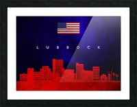 Lubbock Texas Picture Frame print