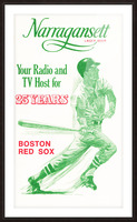1969 Narragansett Beer Red Sox Ad Picture Frame print