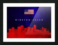 Winston Salem North Carolina Picture Frame print