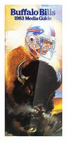 1983 Buffalo Bills Media Guide Artist Bill Ersland Picture Frame print