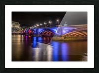 London Bridge at night Picture Frame print